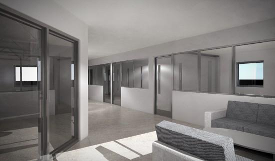 Ombyggnad av industrilokaler, 2014 Tage Møller Arkitektbyrå. Mitt jobb var att upprätta bygglovshandlingar, inkl. ansökan samt efter det skapa bygghandlingsritningar + visualiseringar.