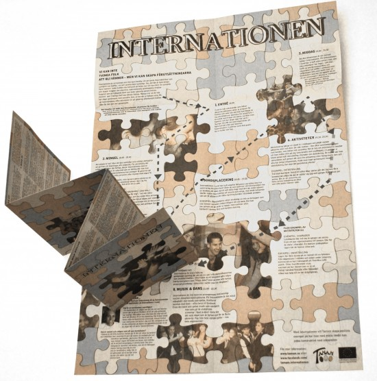 "Combined Information folder and poster for the project ""Internationen"", Tamam 2012"