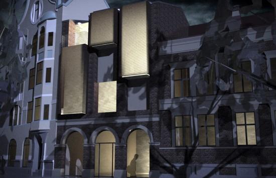 Påbyggnad, Bantorget i Lund. Jimmy Bussenius, LTH 2009
