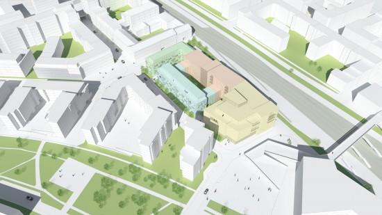 Fysisk planering inför detaljplan av kvarter i Lund. Mitt jobb var 3D modellering och visualisering. Tengbom arkitekter