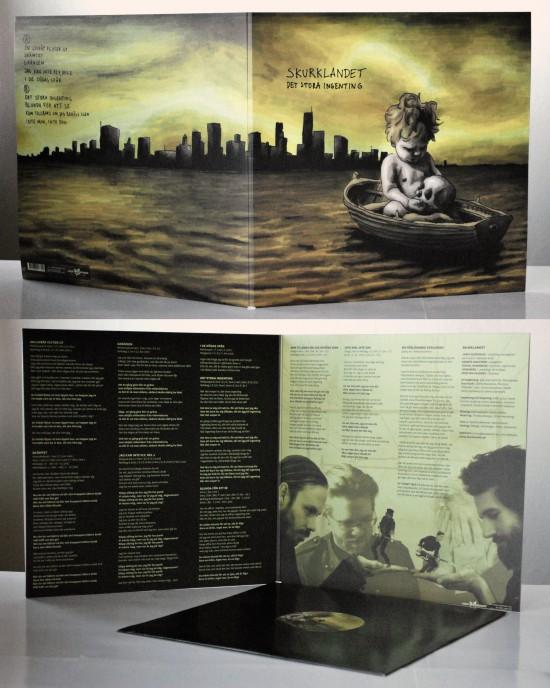 LP, vinyl omslag, Skurklandet