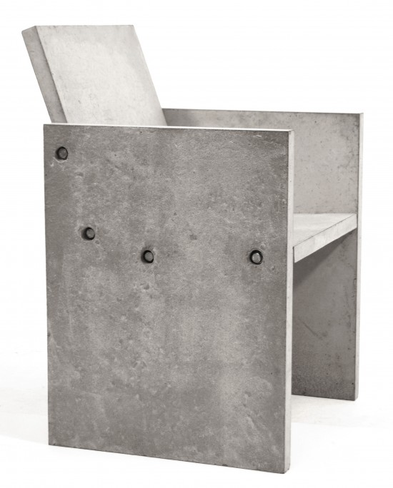 Gjutet - Concrete chairs made by Jimmy Bussenius 2008, 3 chairs were made