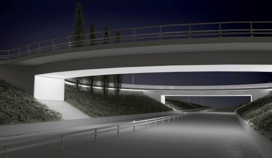 Väg 50, jag gjorde visualiseringar och 3D-modeller utifrån underlag från vägingenjörer, ljussättare och landskapsarkitekter. Tengbom arkitekter