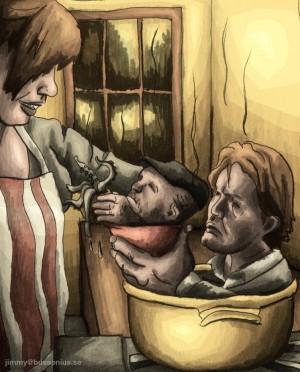 Ständigt hungrig, illustration Lundagård, våren 2011
